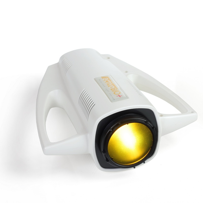 link to product page of ActiveBio+ polarised light therapy lamp