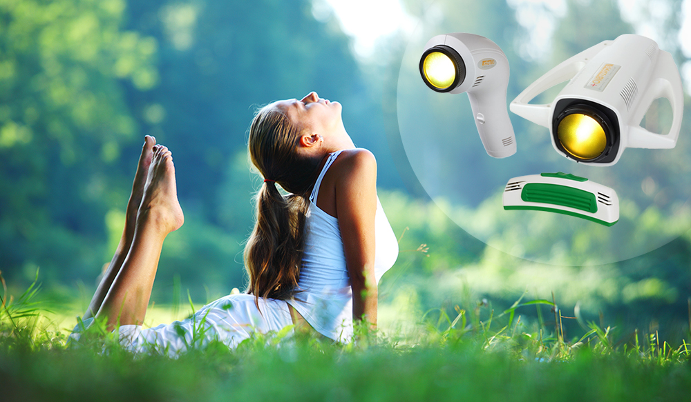 Polarised light therapy lamps manufactured by Oxford Medical Instruments