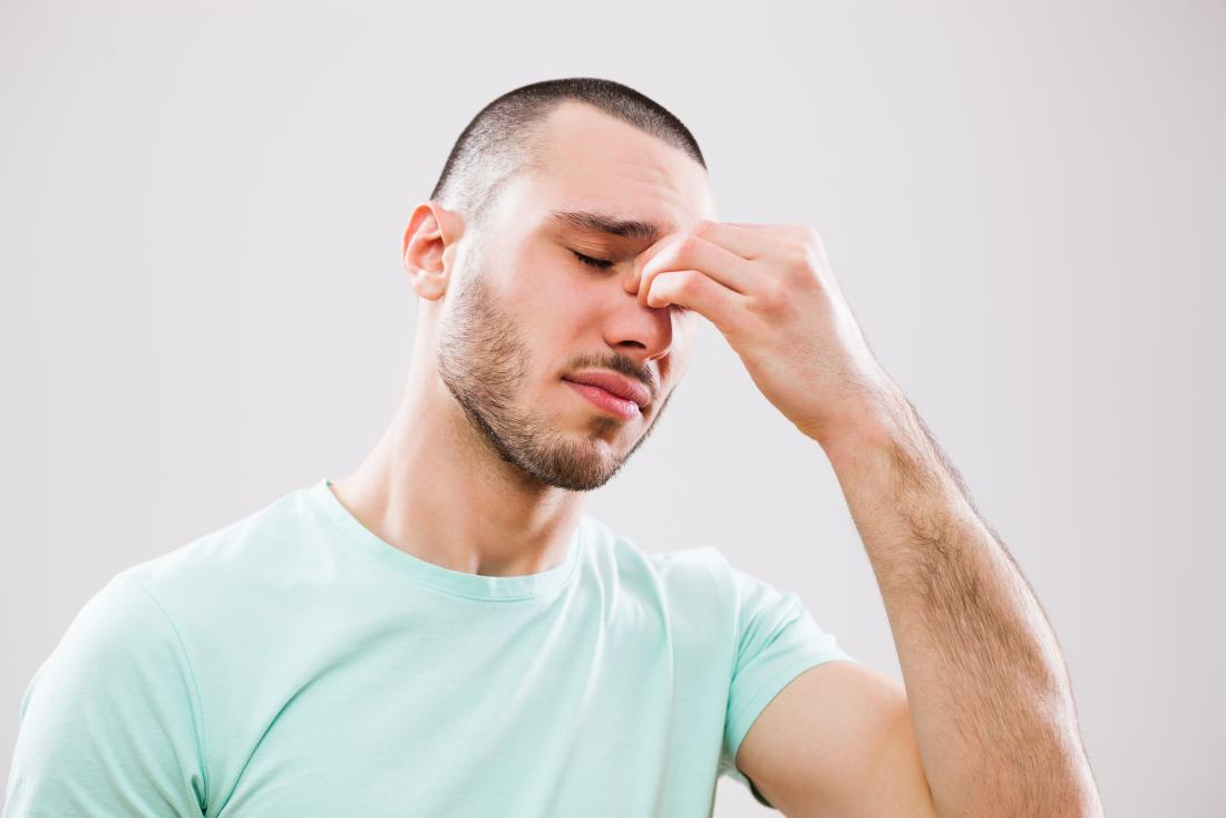 man with sinus issues